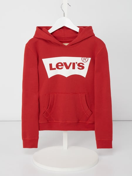 huge selection of d7f63 b11ba LEVIS KIDS – Hoodie mit Logo-Print – Rot