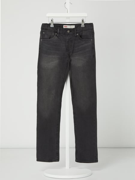 LEVIS KIDS Slim Tapered Jeans mit Stretch-Anteil Modell '512' Grau - 1