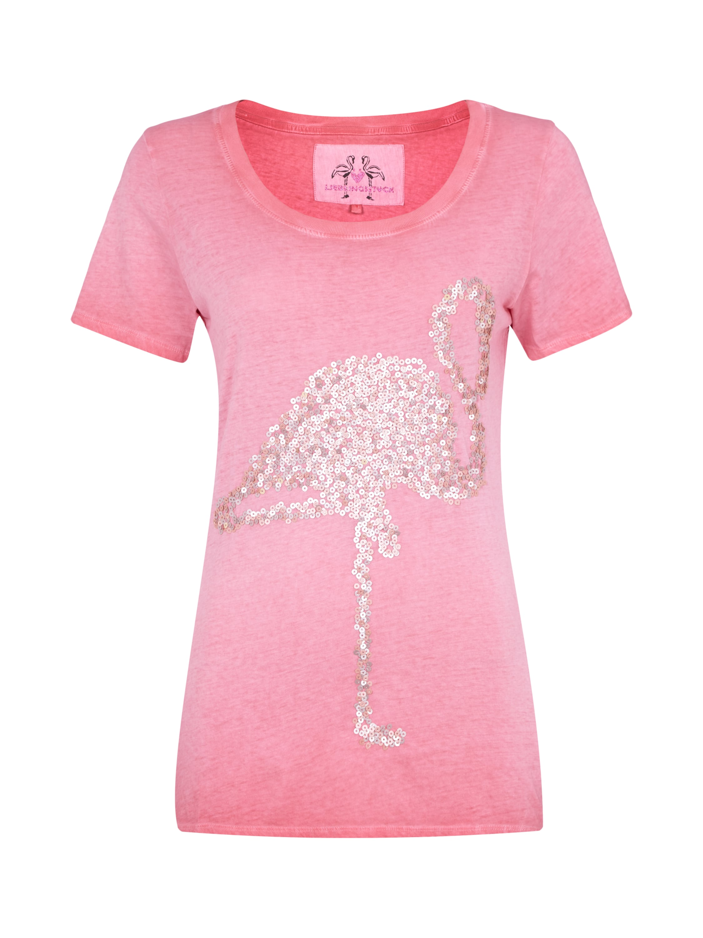 washed out t shirt mit flamingo aus pailletten fashion id online shop. Black Bedroom Furniture Sets. Home Design Ideas