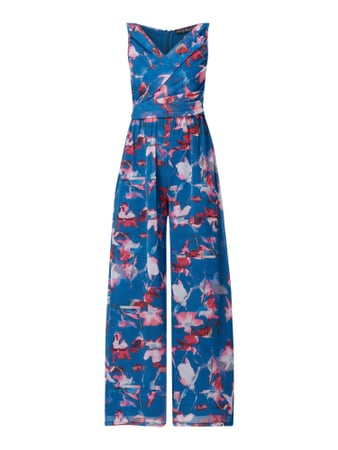 Little Mistress Jumpsuit aus Chiffon in Wickel-Optik Blau - 1