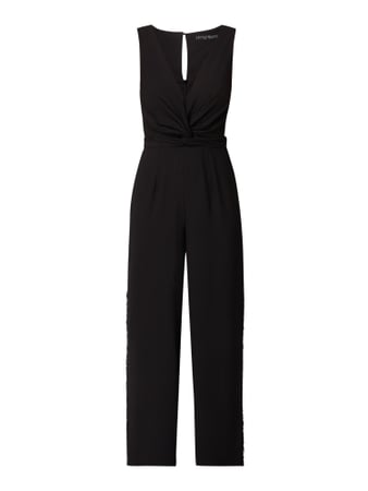 Little Mistress Jumpsuit mit Knotendetail Grau / Schwarz - 1