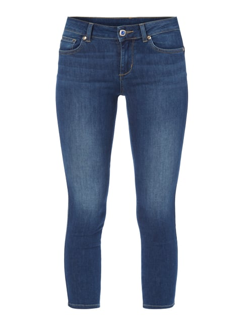 Stone Washed Skinny Fit Jeans in 7/8-Länge Blau / Türkis - 1