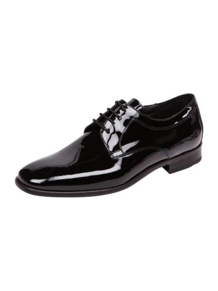 Lloyd Freeman - Freeman Oxfords aus Lackleder Schwarz