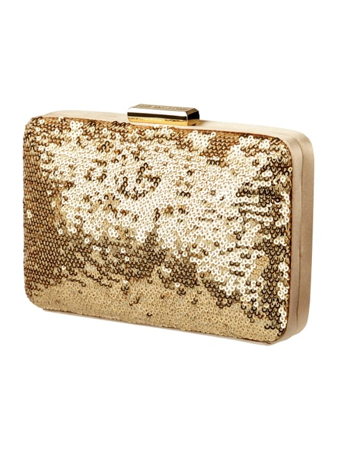 Box Clutch mit Pailletten Gelb - 1