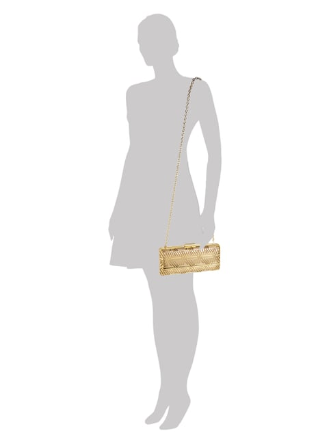 Love Moschino Clutch aus Metall in Goldoptik in Weiß - 1