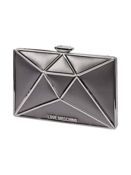 Clutch in Diamantenform Grau / Schwarz - 1