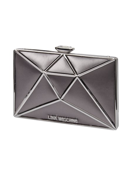 Love Moschino Clutch in Diamantenform Grau / Schwarz - 1