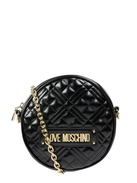 Love Moschino Crossbody Bag in Leder-Optik Schwarz - 1