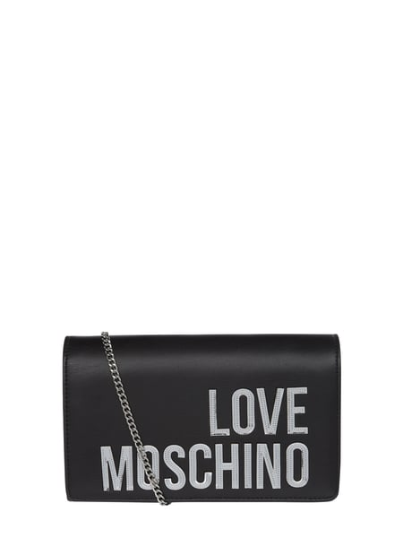 Love Moschino Crossbody Bag mit Logo-Applikation Silber - 1