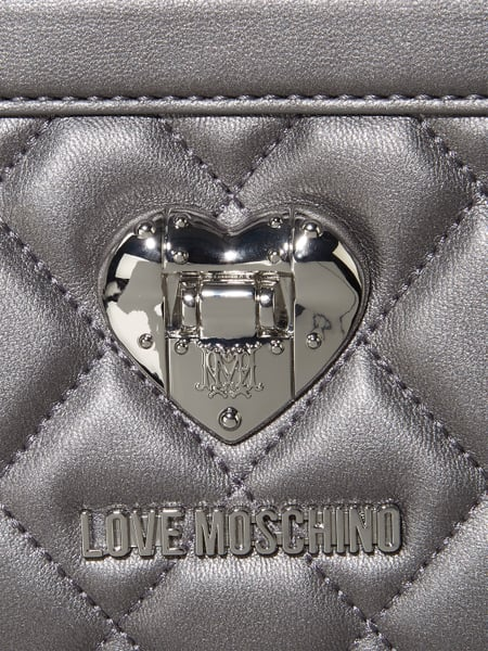 love moschino handtasche mit steppungen in grau schwarz online kaufen 9641529 p c online shop. Black Bedroom Furniture Sets. Home Design Ideas