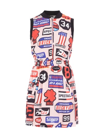 Love Moschino Kleid mit Rallye-Prints Rosa - 1
