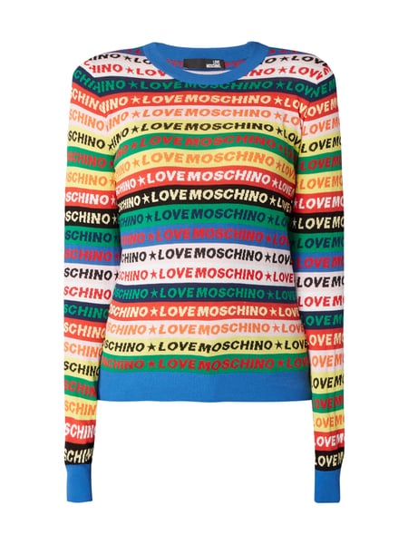 Love Moschino Pullover mit Logo-Muster Rot - 1