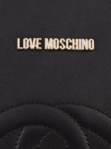 love moschino shopper mit herz stickereien in grau schwarz online kaufen 9706520 p c online. Black Bedroom Furniture Sets. Home Design Ideas
