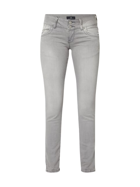 7c252621dc5f LTB Super Slim Fit Low Rise Jeans Grau   Schwarz - 1 ...
