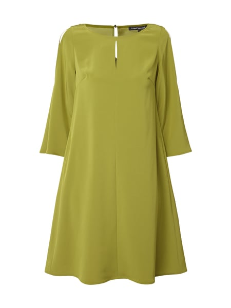 Luisa Cerano Cold Shoulder Kleid mit Cut Outs Gras Grün