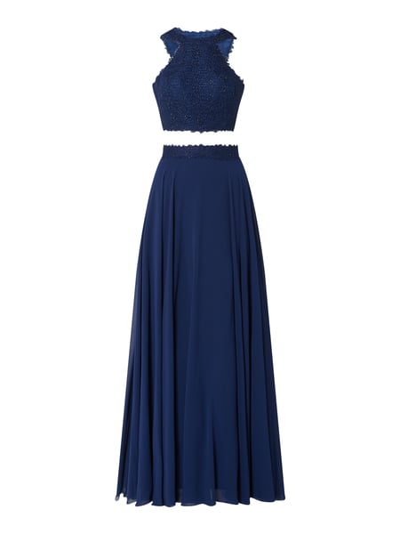 Luxuar Abendkleid im 2-in-1-Look Blau - 1