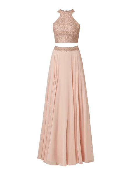 Luxuar Abendkleid im Rock-Top-Look Rosa - 1