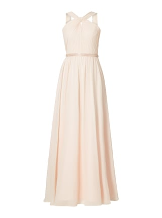 Abendkleid mit Knotendetail Orange - 1