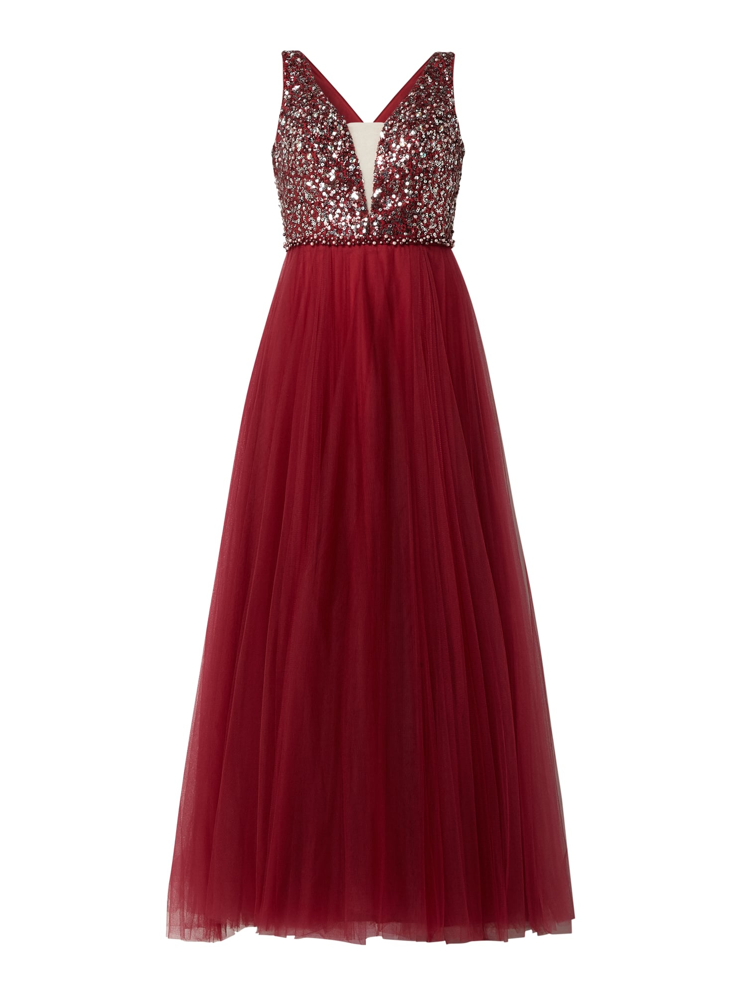 LUXUAR Abendkleid mit Pailletten-Applikationen in Rot online kaufen  (20) ▷ P&C Online Shop