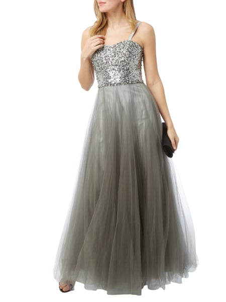 Luxuar abendkleid grau