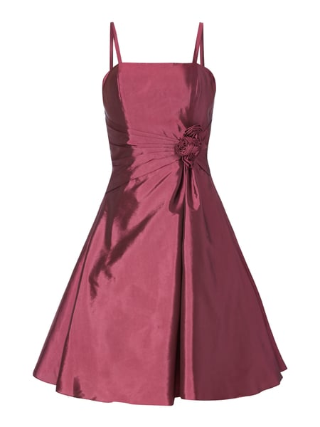 Luxuar Cocktailkleid mit Blüten-Applikation Violett
