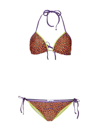 M Missoni Bikini mit Animalprint Orange - 1