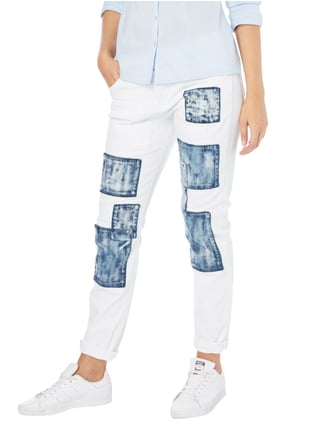MAC Boyfriend Fit Jeans mit Kontrastpatches Weiß - 1