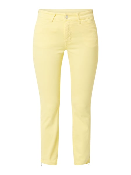 MAC Cropped Slim Fit Jeans mit Stretch-Anteil Modell 'Dream Chic' Gelb - 1