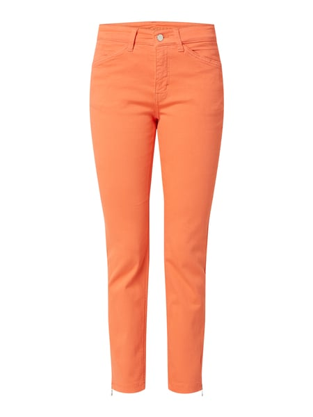 MAC Cropped Slim Fit Jeans mit Stretch-Anteil Modell 'Dream Chic' Orange - 1