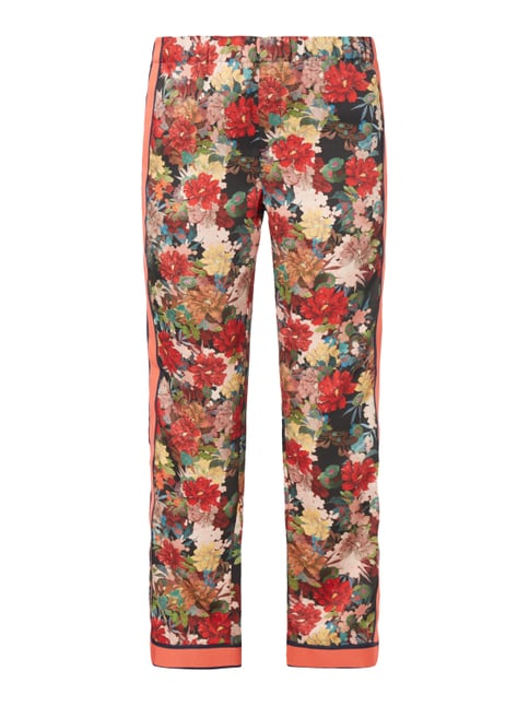Easy Pants mit floralem Muster Rot - 1