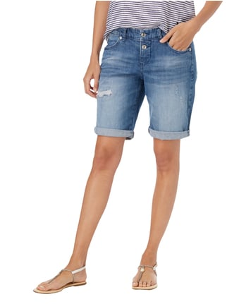 MAC Jeansbermudas im Destroyed Look Jeans meliert - 1