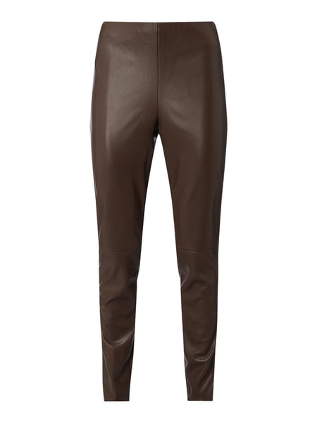 MAC Leggings in Leder-Optik Braun - 1