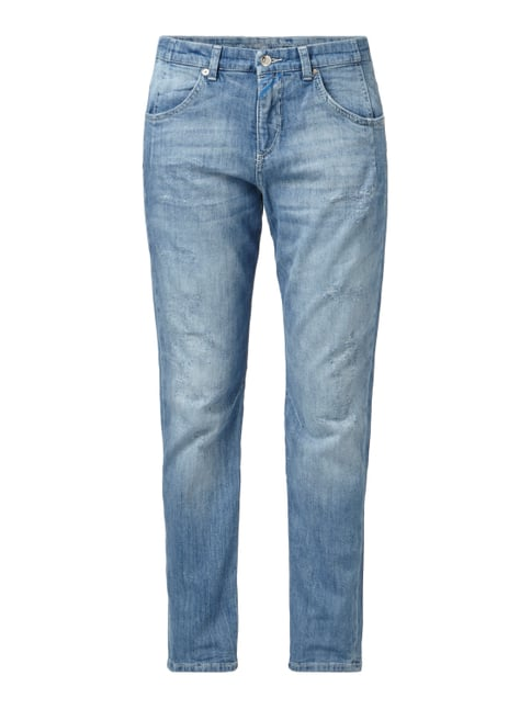 Loose Fit Jeans im Destroyed Look Blau / Türkis - 1