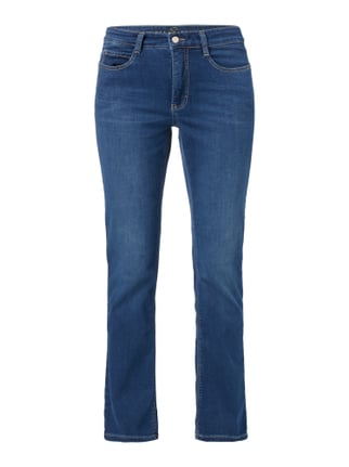 Stone Washed 5-Pocket-Jeans mit Stretch-Anteil Blau / Türkis - 1