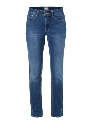 Stone Washed Feminine Fit 5-Pocket-Jeans Blau / Türkis - 1