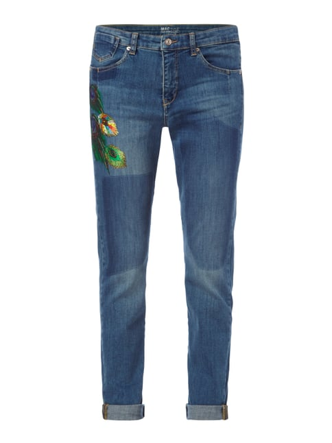 Stone Washed Girlfriend Fit 5-Pocket-Jeans Blau / Türkis - 1