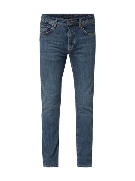 MAC Stone Washed Regular Fit Jeans Blau - 1