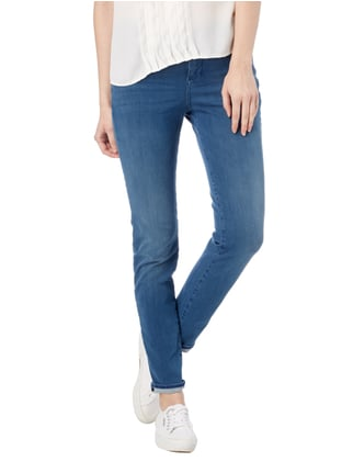 MAC Stone Washed Skinny Fit 5-Pocket-Jeans Jeans meliert - 1