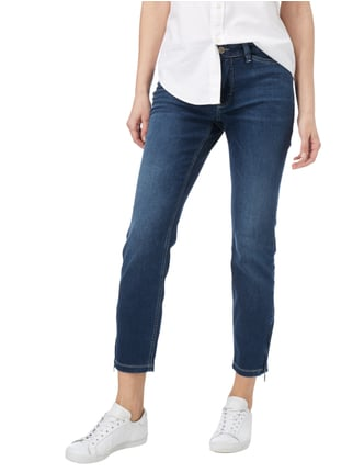 MAC Stone Washed Skinny Fit Jeans mit Stretch-Anteil Dunkelblau meliert - 1