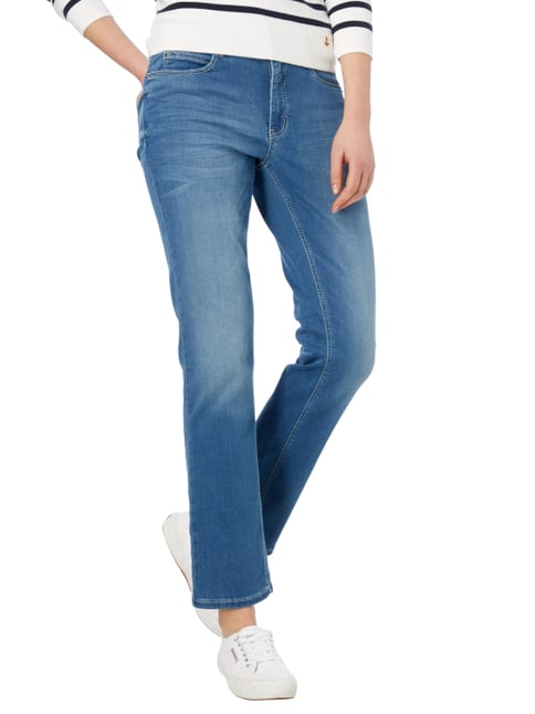 MAC Stone Washed Straight Fit 5-Pocket-Jeans Hellblau meliert - 1