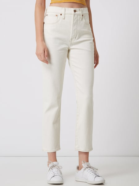 MADEWELL – Cropped Jeans mit Stretch Anteil – Offwhite