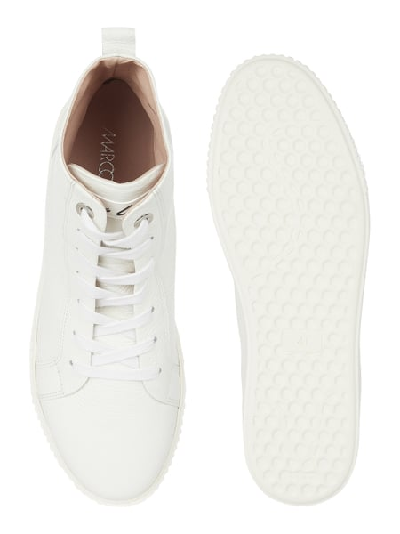 Marc Cain Bags & Shoes – High Top Sneaker aus echtem Leder – Weiß