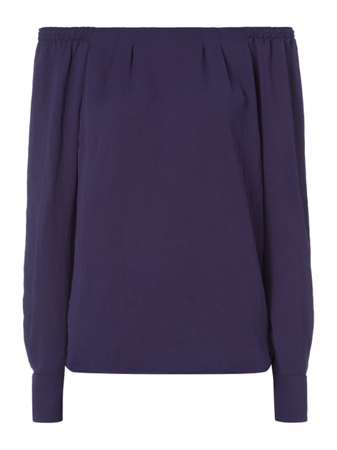 Blusenshirt im Off Shoulder Look Blau / Türkis - 1