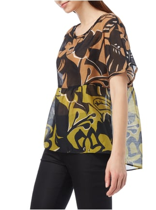 Marc Cain Collections Blusenshirt mit floralem Muster Sand - 1