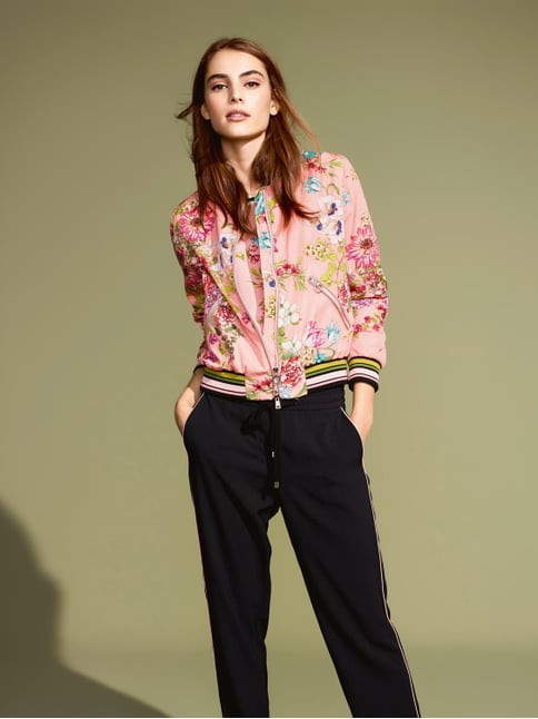 Marc Cain Collections Bomber mit floralem Muster Rosa - 1