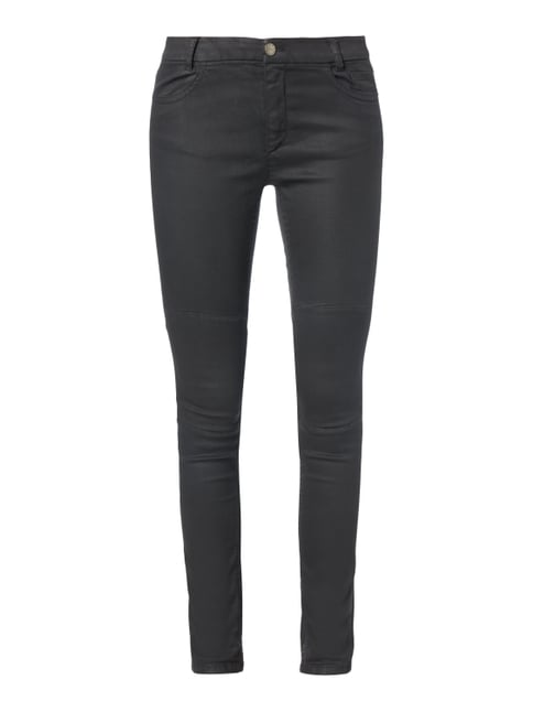 Coated Skinny Fit 5-Pocket-Jeans Grau / Schwarz - 1