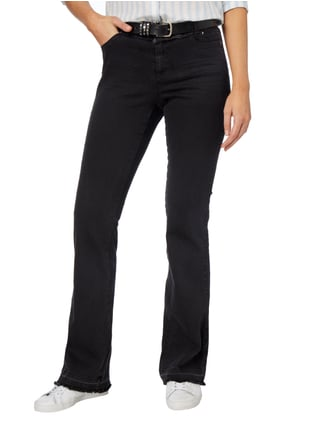 Marc Cain Collections Coloured Boot Cut 5-Pocket-Jeans Schwarz - 1