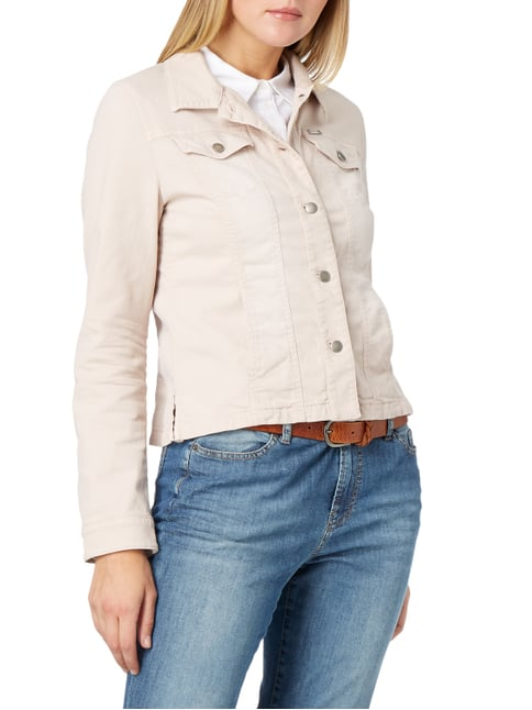 Marc Cain Coloured Jeansjacke mit Pattentaschen Sand - 1