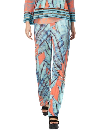 Marc Cain Collections Easy Pants mit Allover-Muster Aqua Blau - 1