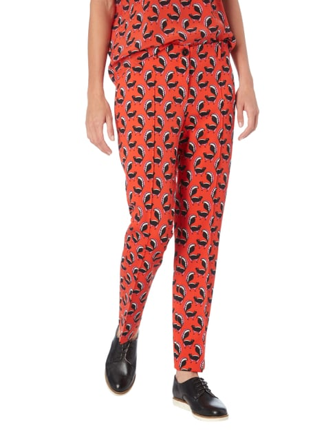 Marc Cain Easy Pants mit Allover-Muster Orange - 1